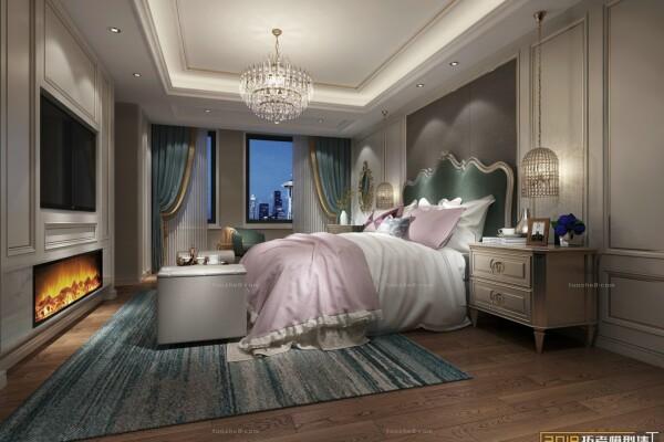 صحنه آماده اتاق خواب به سبک اروپایی عکس اصلی
