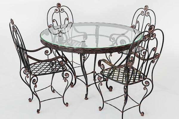 مدل ۳ بعدی میز و صندلی های فرفورژه عکس اصلی