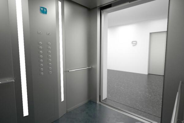 آبجکت سه بعدی آسانسور عکس اصلی