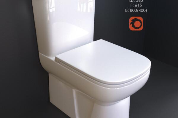 مدل سه بعدی توالت فرنگی عکس اصلی