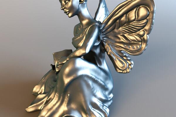 آبجکت سه بعدی مجسمه پری عکس اصلی