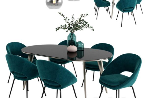 آبجک ۳ بعدی ست میز و صندلی عکس اصلی