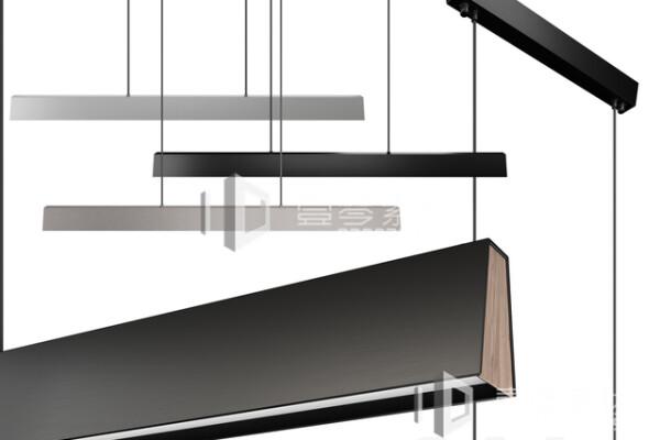 آبجکت سه بعدی  لوستر سقفی سیاه عکس اصلی