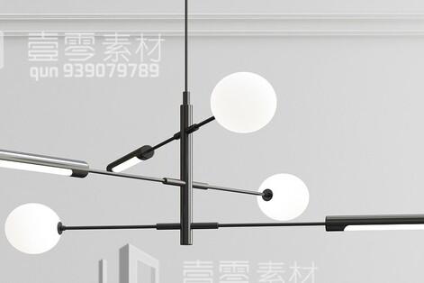 آبجکت سه بعدی  لوستر سقفی توپی عکس اصلی