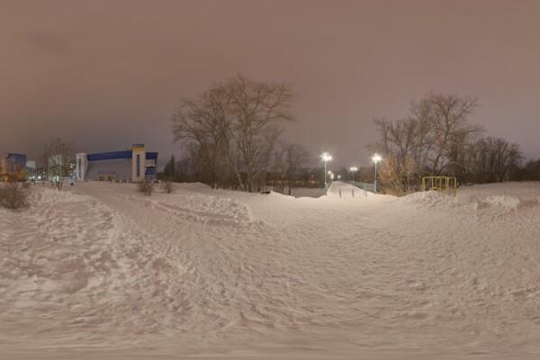 فایل HDRI خارجی پل شب عکس اصلی