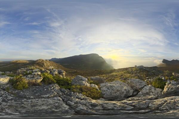 فایل hdri تپه سنگی عکس اصلی