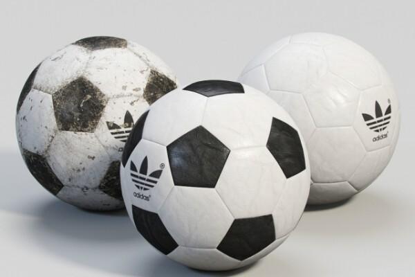 آبجکت سه بعدی توپ فوتبال عکس اصلی