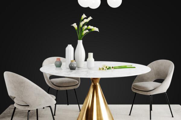 مدل ۳ بعدی ست میز و صندلی عکس اصلی