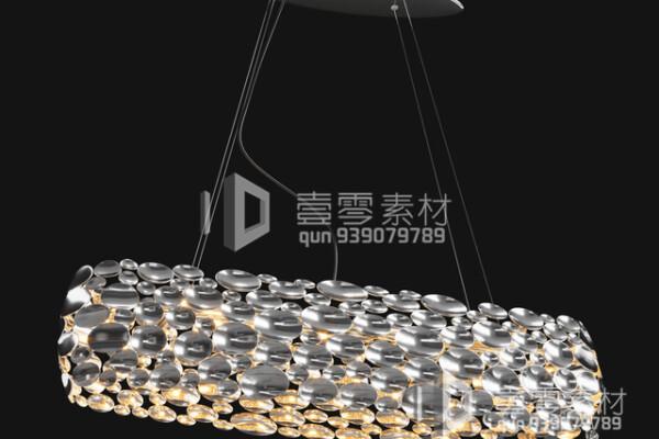 آبجکت سه بعدی  لوستر سقفی شیک عکس اصلی