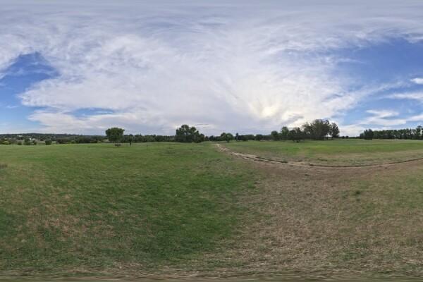 فایل HDRI پارک با آسمان ابری عکس اصلی