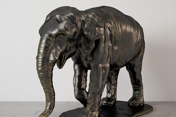 آبجکت سه بعدی مجسمه فیل عکس اصلی