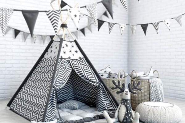 مدل سه بعدی اتاق کودک تخت خواب کودک عکس اصلی