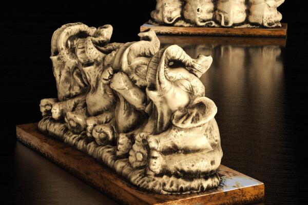 مدل سه بعدی مجسمه های فیل عکس اصلی