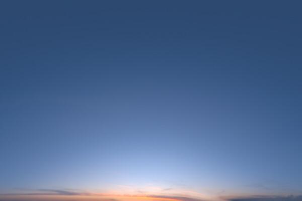 فایل HDRI آسمان صاف غروب عکس اصلی
