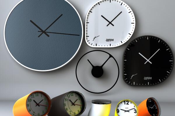 آبجکت سه بعدی مجموعه ای از ساعتهای عکس اصلی