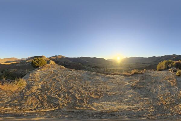 تصویر HDRI غروب خورشید عکس اصلی