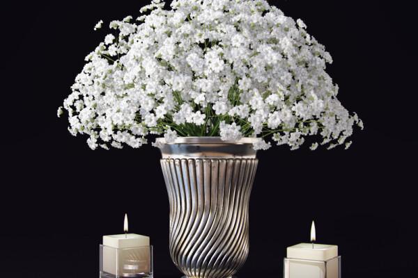 آبجکت سه بعدی ست گل وگلدان عکس اصلی