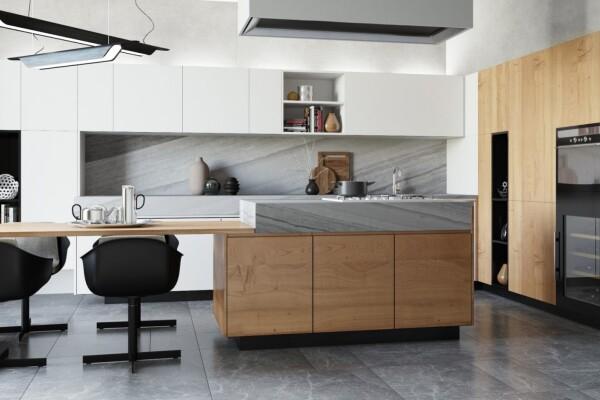 صحنه آماده آشپزخانه مدرن عکس اصلی