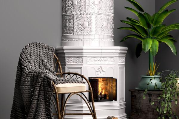 آبجکت سه بعدی شومینه و ست تزئینی اسکاندیناوی عکس اصلی