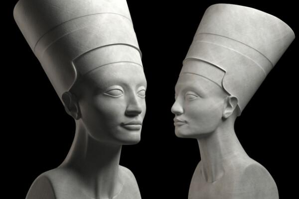 مدل سه بعدی مجسمه نفرتیتی عکس اصلی