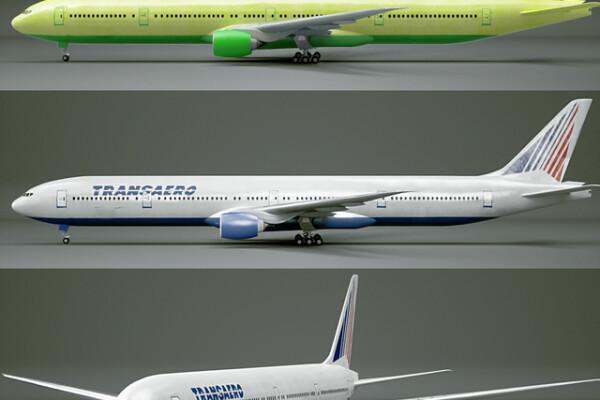 آبجکت 3 بعدی هواپیما مسافربری بوئینگ 777 300 عکس اصلی