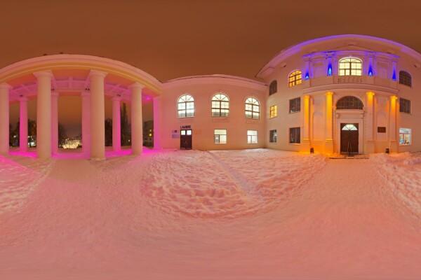 فایل HDRI معماری عصر زمستان عکس اصلی