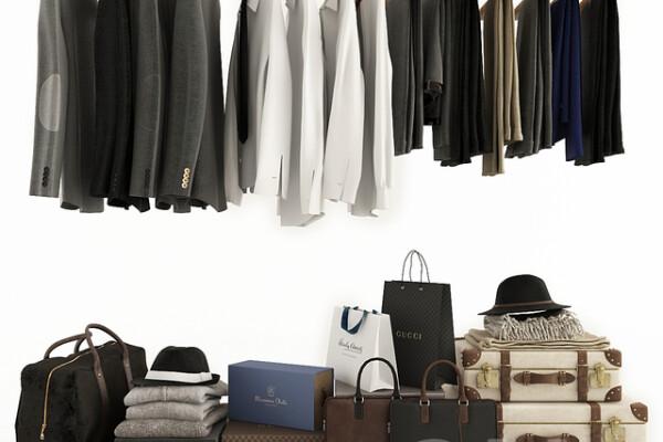 آبجکت سه بعدی لباس و کیف و کفش عکس اصلی