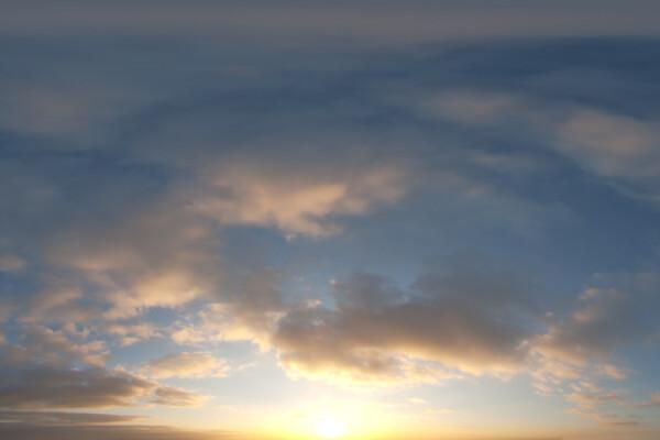 فایل HDRI آسمان ابری غروب عکس اصلی